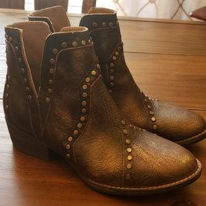 Leather Booties Size 10
